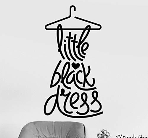 (Hwhz 42 X 79 Cm Little Black Dress Wandtattoo Mode Zitat Wandaufkleber Frau Aufkleber Für Bekleidungsgeschäft Removable Home Fenster Decor)