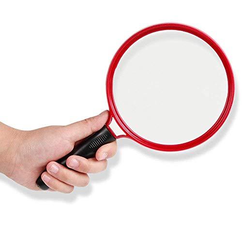Wghz Lupe 10-mal, ältere Menschen lesen Handheld-HD-Glas mit großem Durchmesser 130 mm Lesebuch 13 cm Durchmesser Glaslinse Rutschfester Griff ohne Lampe