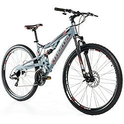"Moma Bikes Bicicleta Montaña EQX 29"" Alu, SHIMANO 24V, Doble Freno Disco, Doble Susp. (Varias Tallas)"