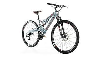 """Moma Bikes Bicicletta Mountainbike 29"""" MTB SHIMANO, alluminio, doppio disco e doppia sospensione"""
