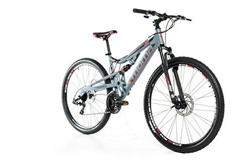 Moma Bikes Bicicleta Montaña  EQX 29'Alu, SHIMANO 24V, Doble Freno Disco, Doble Susp. (Varias Tallas)