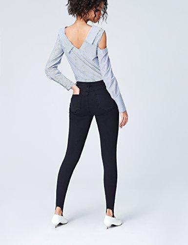 FIND Jeans Skinny con Staffa Donna Blu (Blue)