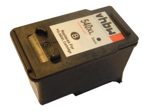 vhbw kompatible Ersatz Tintenpatrone Druckerpatrone für Canon Pixma MG4140, MG4150, MG4250 wie PG-540, PG-540XL
