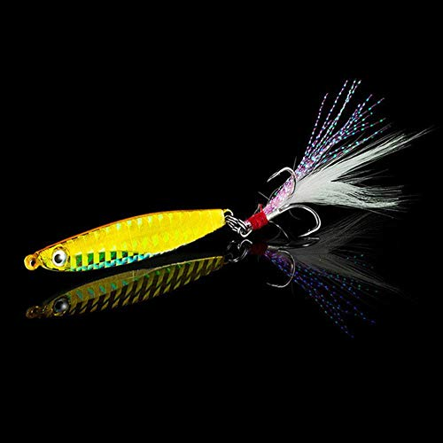 DACCU Fishing Lure Spinners Spoon Bait Jig Silicone Bait Wobbler Squid Peche Octopus Winter Sea Ice Fishing Minnow7 14 18 30g,B,5cm 7g -