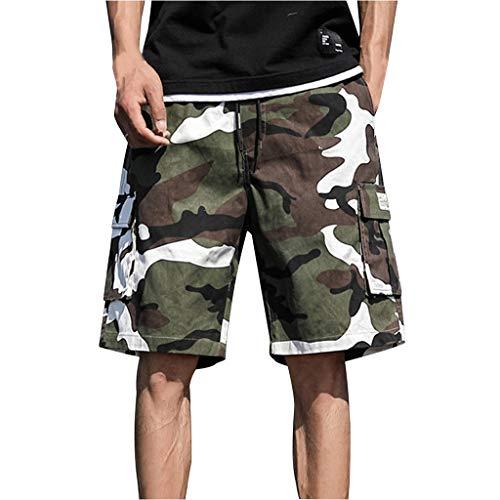 Sllowwa Herren Camouflage Kurze Hose Sommer Cargo Shorts Sport Outdoor Arbeitshosen Freizeithose Sommer Overalls Plus Size Sport Shorts Hosen -