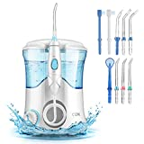 Irrigador Bucal, Cozzine Irrigador Dental Profesional con 9 Boquillas, 600ml, 30-120 PSI con el...