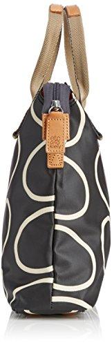 Orla Kiely 0Etclin100, Sacs portés épaule Femme Noir (Liqourice)