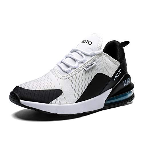 Herren Laufschuhe Gym Sportschuhe Straßenlaufschuhe Outdoor Trainers Atmungsaktiv Turnschuhe Joggen Schuhe Freizeit Sneaker(270-S/W, 39EU) (Trainer Stoff)