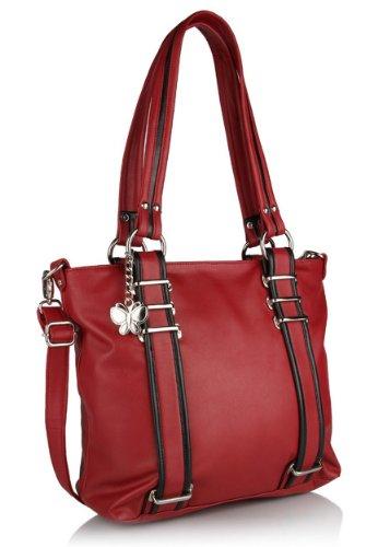 Butterflies Handbag (Red)(BNS 0319)