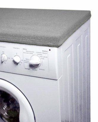 Matex Revêtement de protection en tissu éponge pour dessus de machine à laver 50 x 60 cm gris foncé