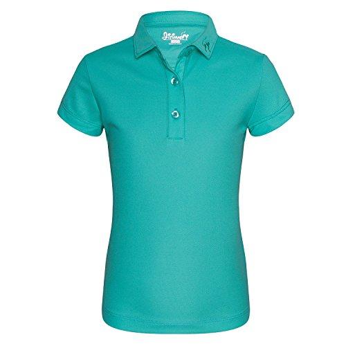JITIMAO Mädchen Polo Shirts Golf Funktional T-Shirt, Hellgrün - 140