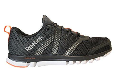 Reebok Sublite Duo Lx Wp, Chaussures de running homme NOIR (BLACK/GRAVEL/ORANGE/SILVER)