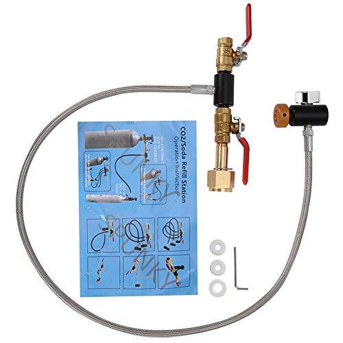 Adaptateur de remplissage de bouteille de CO2 G1 / 2 Connecteur de bouteille Réservoir de CO2...