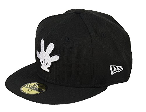 DISNEY - NEW ERA 59FIFTY BASECAP - MICKEY MOUSE - WHITE HAND - BLACK -