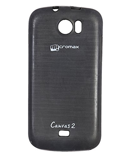 iCandy Soft TPU Shiny Back Cover for Micromax Canvas 2 A110 - Black  available at amazon for Rs.99