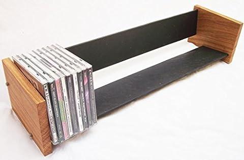 Solide Eiche und Naturschiefer Langes CD Regal (Natural Wood Cabinet)