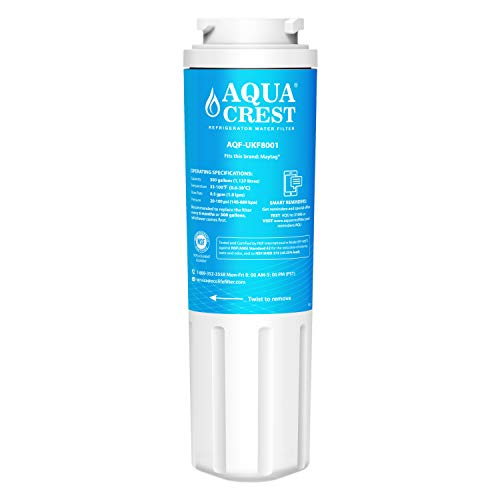 AQUACREST UKF8001 Kühlschrank Wasserfilter, kompatibel mit Maytag UKF8001, UKF8001AXX, UKF8001P, UKF9001, PuriClean II, Whirlpool 4396395, 469006, FILTER 4, Sears/Kenmore 9006, 46-9006 (Kühlschrank Filter Ukf8001 Wasser)