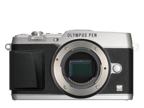 Olympus E-P5 Systemkamera (16 Megapixel MOS-Sensor, True Pic VI Prozessor, 5-Achsen Bildstabilisator, Verschlusszeit 1/8000s, Full-HD) Gehäuse silber Olympus Mini Digital