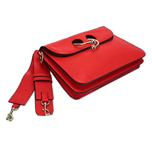 WU Zhi Lady In Pelle Borse Di Organi Sacchetto Di Spalla Portatile Red