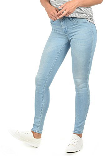 ONLY Feli Damen Jeans Denim Hose Röhrenjeans Aus Stretch-Material Skinny Fit, Farbe:Light Blue Denim, Größe:M/ L30