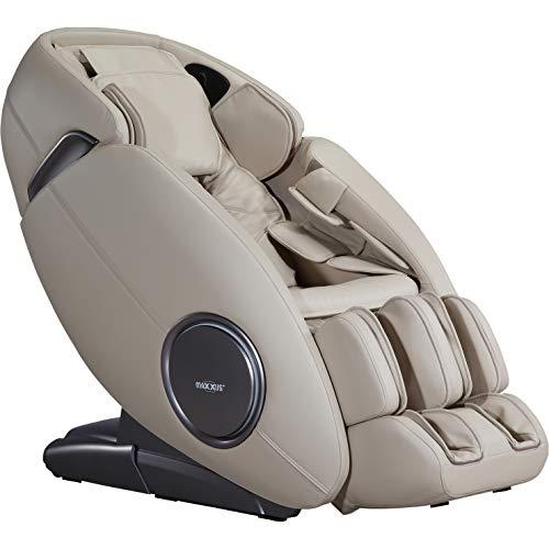 Maxxus Massagesessel MX 12.0z Ganzkörper Massagefunktion | Nacken- und Rückenmassage | Hüfte und Po Massage | Schultermassage | Knet- und Klopfmassage (Champagne)