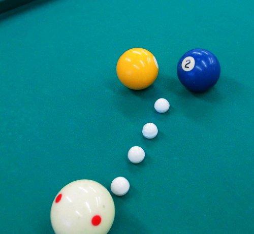 VARIACIONES SOBRE DOS JUEGOS PISCINA en una mesa de 6 pockets. : 1. 1-2-Rail Rail Billar con disparos de bolsillo. 2. Cinco bolas de rotación con 3 bolas. por Sam Yulish
