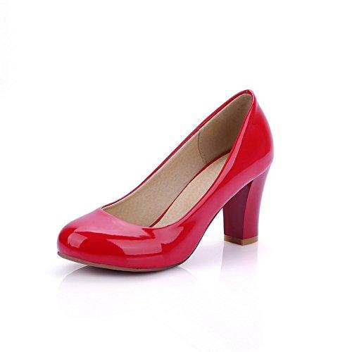 A&N ,  Damen Durchgängies Plateau Sandalen mit Keilabsatz , rot - rot - Größe: 42 (Womens Snow Boots Plaid)
