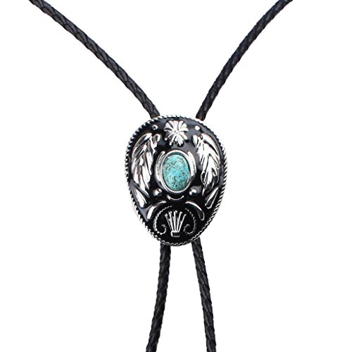 Gazechimp Corbata Bolo Accesorios para Traje Collar Esmalte Natural  Turquesa Vintage Estilo Vaquero 405f4cde407