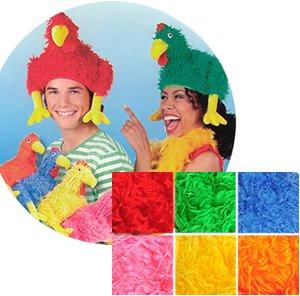 Boland 81222 Faschingshut Hut Crazy Chicken buntes Huhn