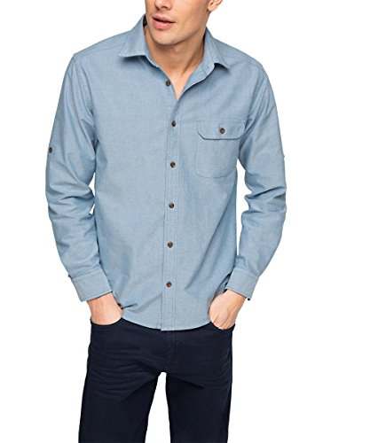 ESPRIT Herren Freizeithemd Blau (BRIGHT BLUE 410)