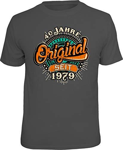 RAHMENLOS Original Geschenk T-Shirt zum 40. Geburtstag: Original 40 Jahre L