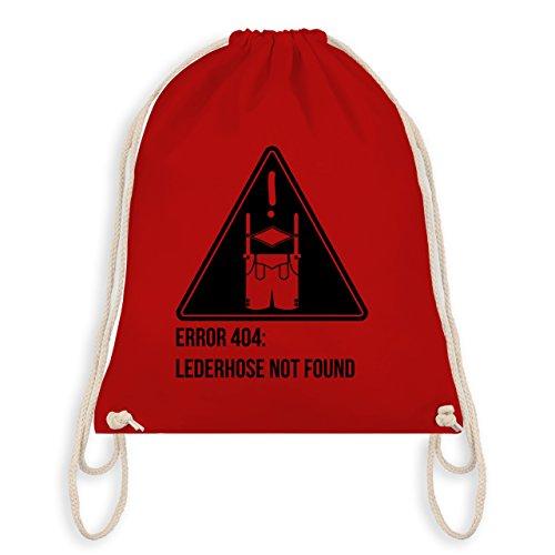 Oktoberfest Herren - Error 404: Lederhose not found - Turnbeutel I Gym Bag Rot