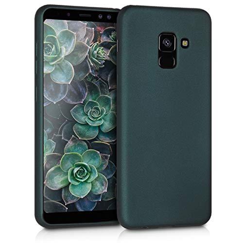kwmobile Samsung Galaxy A8 (2018) Hülle - Handyhülle für Samsung Galaxy A8 (2018) - Handy Case in Metallic Petrol