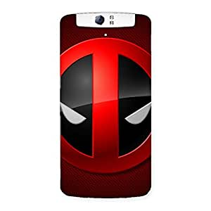 Delighted Dead Eye Round Red Back Case Cover for Oppo N1