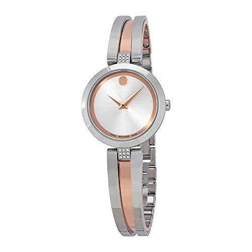 Movado Women's Aleena 26mm Two Tone Steel Bracelet Quartz Analog Watch 0607152