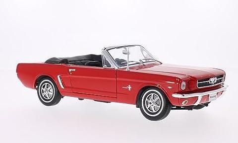 Ford Mustang Cabriolet, rot, 1964, Modellauto, Fertigmodell, Welly 1:18