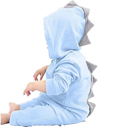 Elecenty Neonato bambino dinosauro ragazza Hooded pigiama tuta Abiti Tuta da neonato con cappuccio a romper con cappuccio da dinosaur 3-18 Mesi