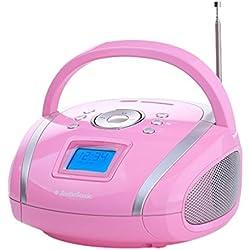 Audiosonic RD-1566 Radio Portable stéréo USB/Carte SD/MP3 4 W Rose