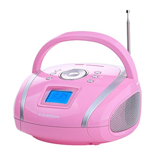 Audiosonic RD-1566 - Radio estéreo (USB/SD/MP3) rosa