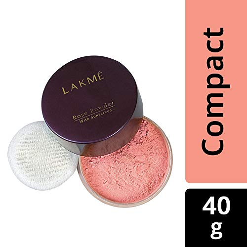 Lakme Rose Face Powder, Warm Pink, 40g