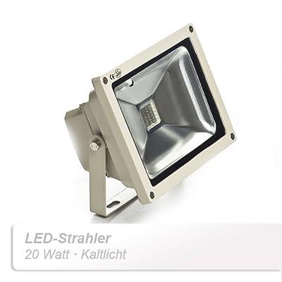 Sagenta 20W LED Strahler Kaltlicht 6500 K Scheinwerfer Fluter Strahler Außenstrahler Flutlicht Licht wasserdicht über 50000 Stunden Lebensdauer von Sagenta bei Lampenhans.de