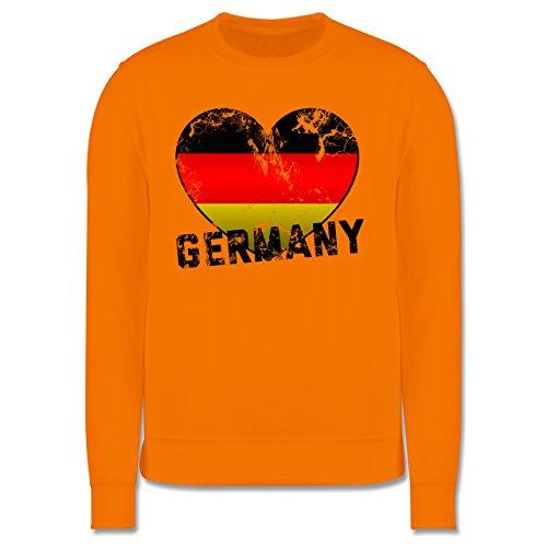 EM 2016 - Frankreich - Germany Herz Vintage - Herren Premium Pullover Orange