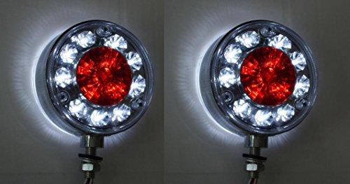 2 luci di ingombro laterali a led 24 v con lunetta cromata per