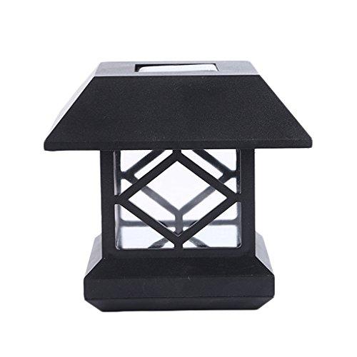 Solar Wand Scheinwerfer LED Hof Landschaft Rasen Wandleuchten Außentüren Post Lichter (4er Pack) (4-licht-post Klassische)