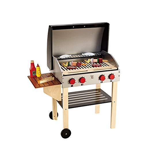 Hape E3127 Gourmet, Spielzeug-Grill aus Holz mit viel tollem Zubehör, ab 3 Jahren, Mehrfarbig
