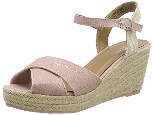 TOM TAILOR Damen 6990101 Riemchensandalen, Pink (Rose 00175), 41 EU