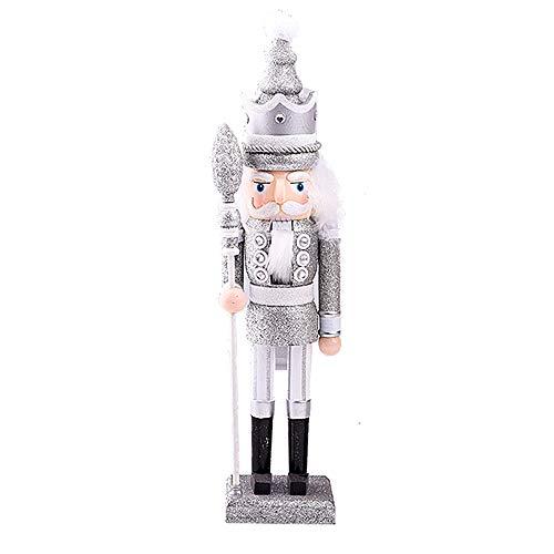 Langde Nussknacker Holzfigur Soldat, 46 cm Nußknacker Wood Dekorativ, Traditionell Puppe Figur Klassisch aus Holz zum Weihnachten, Nutcracker Christmas Decoration