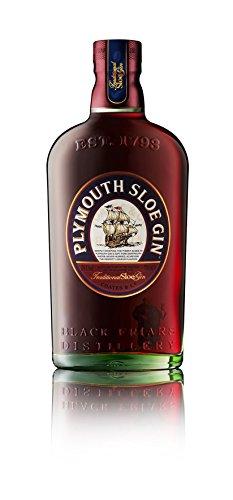 Plymouth Sloe Gin - Gin-Likör auf Basis von Schlehenbeeren mit fein-fruchtigen Noten & weichem Aroma - Traditionell hergestellt in der ältesten Destillerie der Welt - 1 x 0,7 L