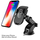 #8: Amkette iGrip Telescopic One Touch Dashboard and Windshield Car Mount for Mobile Phones, with Adjustable Bottom Foot, Supports Large Phones (8.3inch Telescopic arm) (Black)