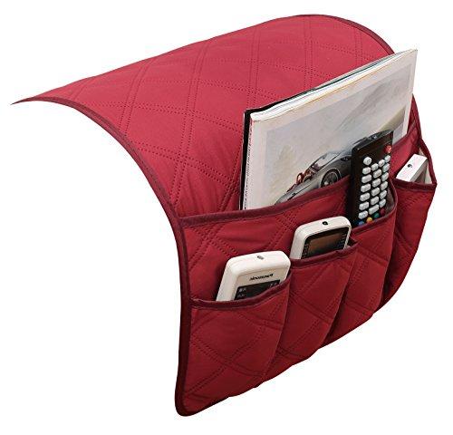 Puting, organizzatore salvaspazio impermeabile per il bracciolo della sedia, della poltrona o del divano. adatto a telefono, libri, riviste, telecomando new wine